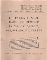 TM 11-2725 Radio Installation