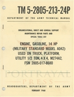 TM 5-2805-213-24P Engine Parts Manual