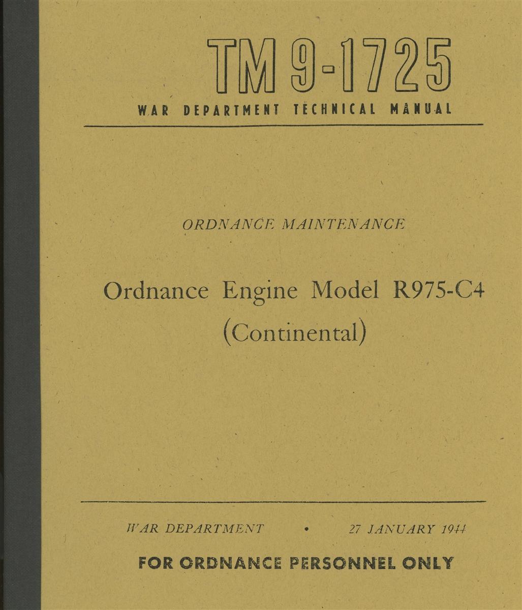 TM 9-1725 Rebuild Manual for Continental Radial R975-C4