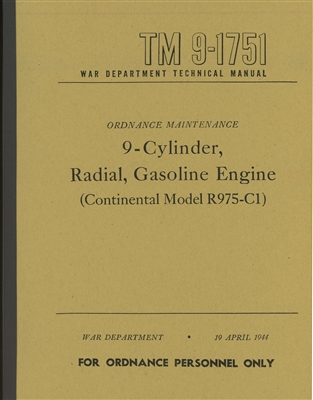 TM 9-1751 Rebuild Manual for Continental Radial R975-C1