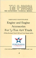 TM 9-1803A Engine Rebuild Manual for G503 (MB/GPW)