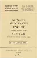 TM 9-1840A Engine & Clutch Manual for Dodge M37 Series (G741)