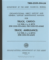TM 9-2320-244-24 Maintenance Manual for Kaiser Jeep, M715, M725/726