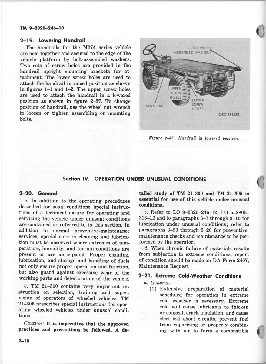 TM 9-2320-246-10 Operator Manual M274 Mule
