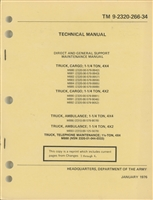 TM 9-2320-266-34 Rebuild Manual for Dodge M880 Series of Trucks