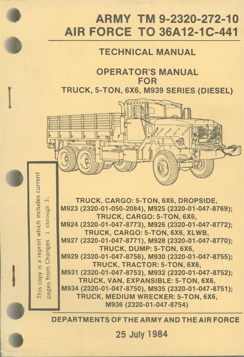 TM 9 2320 272 10 Operator Manual