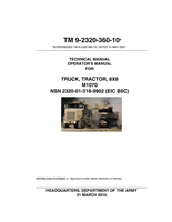 "TM 9-2320-360-10 Operators Manual for M1070 Series ""HET"""