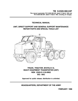 "TM 9-2320-360-24P Complete Illustrated Parts Manual for M1070 Series ""HET"""