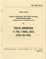 TM 9-2330-231-14 Operator & Maintenance for M322 Ammunition Trailer