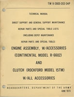 TM 9-2805-203-34P Illustrated Parts Manual for Continental R6602 motor used in 5 Ton M-Series 6x6 Truck (G744).