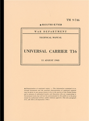TM 9-746 Operator Manual T16 Universal Carrier