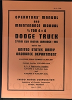 TM-9-750A for Dodge 4x4 M6 Gun Motor Carriage (WC-55)
