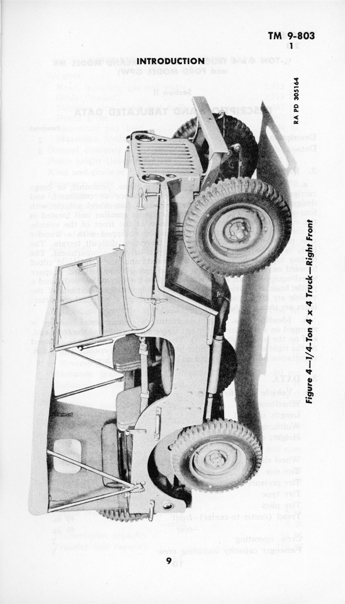 Operator and Maintenance Manual for G503, Willys MB & Ford ...