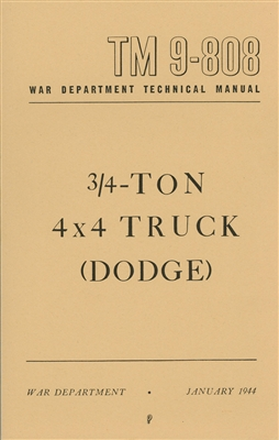 TM 9-808 Dodge 3/4 Ton 4x4