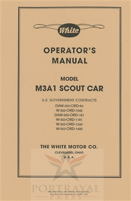 White Operator's Manual for M3A1 Scout Car (G67)
