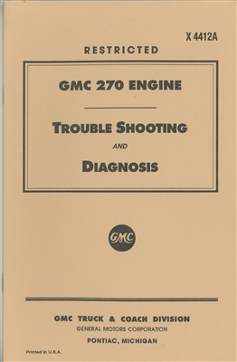 GMC 270 Engine Troubleshooting & Diagnosis (DUKW/CCKW/G501/G508)