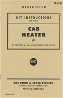 Kit Instructions WKT-106A Cab Heater for CCKW (G508)