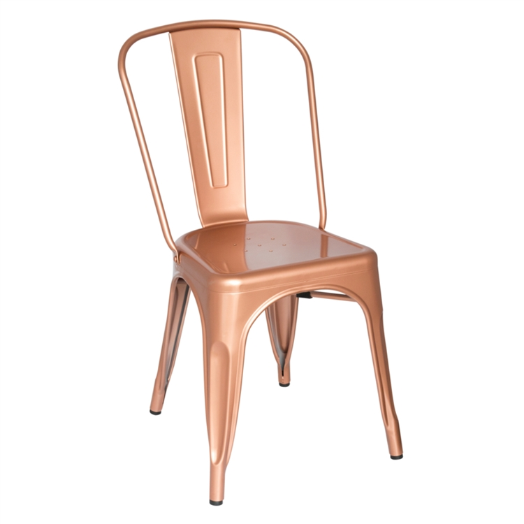 Fine Mod Imports Tolix Marais Dining Chair in Copper