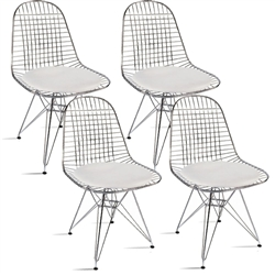 Fine Mod Imports Eiffel Dining Chair Set of 4