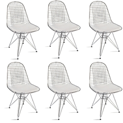 Fine Mod Imports Eiffel Dining Chair Set of 6