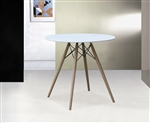 "Fine Mod Imports DSW WoodLeg Dining Table 48"" Fiberglass Top"