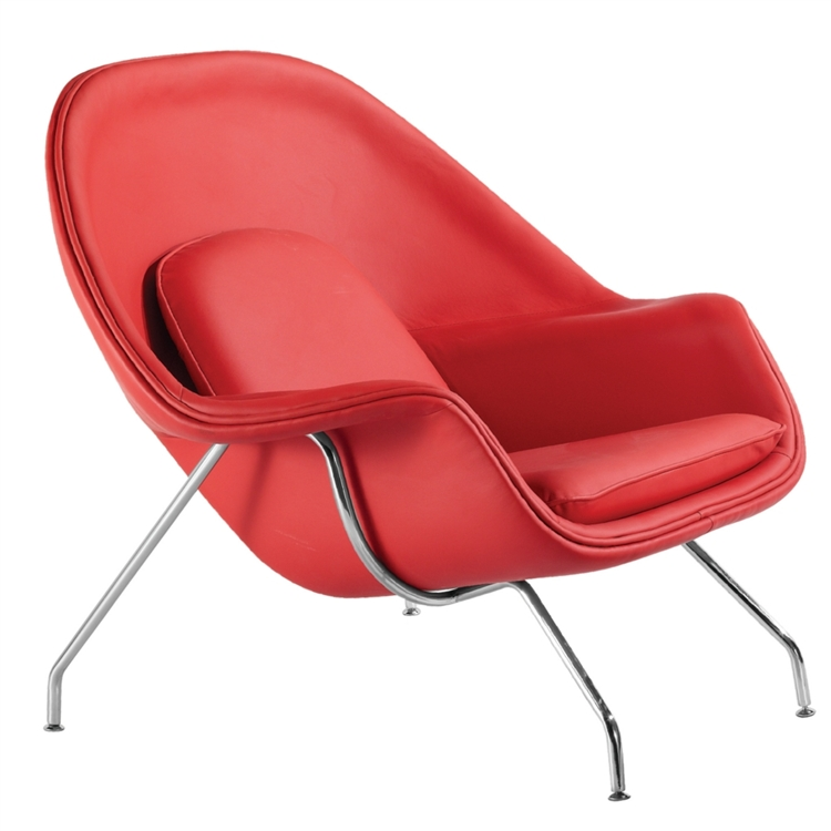 sc 1 st  Instyle Modern.com & Fine Mod Imports Eero Saarinen Style Womb Chair and Ottoman Set Leather