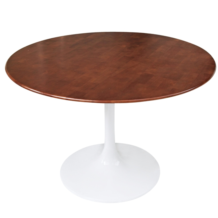 Fine Mod Imports Eero Saarinen Style Tulip Table Wood Top - Saarinen outdoor dining table