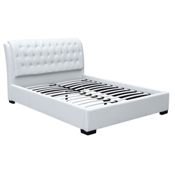 Bianca Modern Bed With Tufted Headboard Queen Size