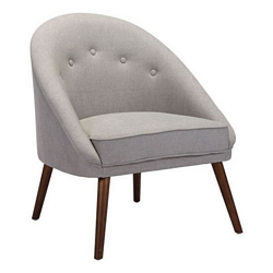 Zuo Modern Carter Occasional Chair Light Gray