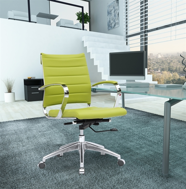 Fine Mod Imports Sopada Conference Office Chair Mid Back In Lime Green