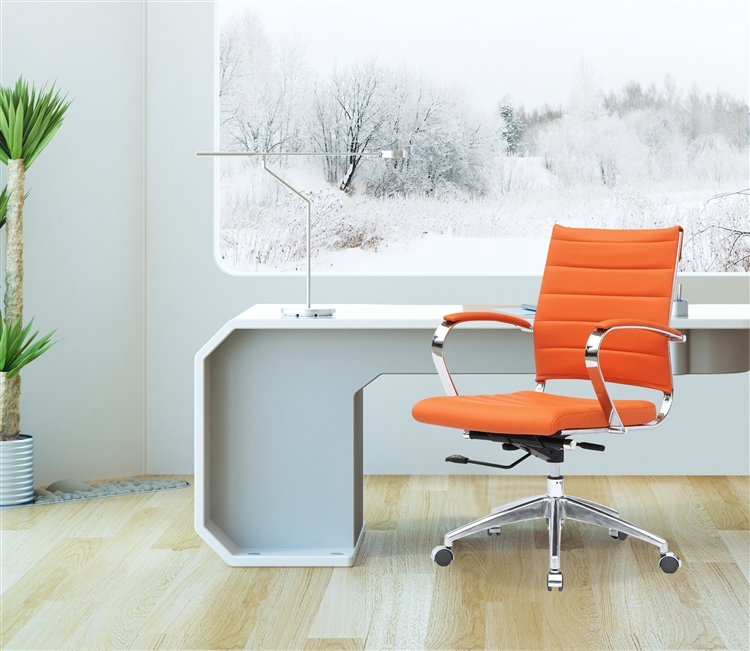 office orange. Fine Mod Imports Sopada Conference Office Chair Mid Back In Orange N