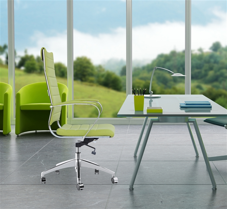 lime green office furniture. Fine Mod Imports Sopada Conference Office Chair High Back In Lime Green Furniture