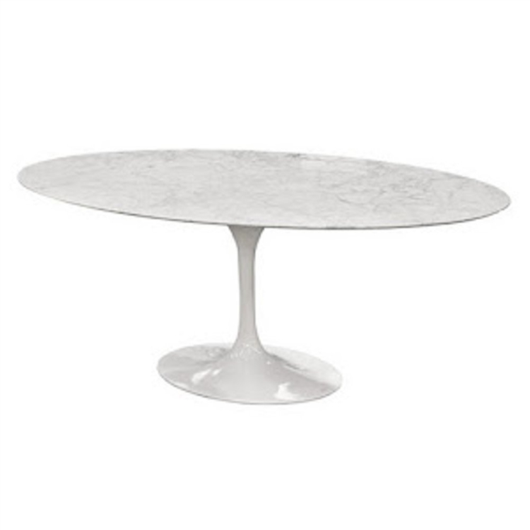 Eero Saarinen Style Tulip Marble Table Oval - Eero saarinen tulip table and chairs