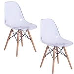 Fine Mod Imports GlossWood Dining Side Chair Set of 2
