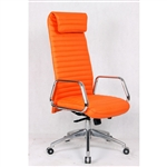 Fine Mod Imports Ox High Back Leatherette Office Chair in Orange