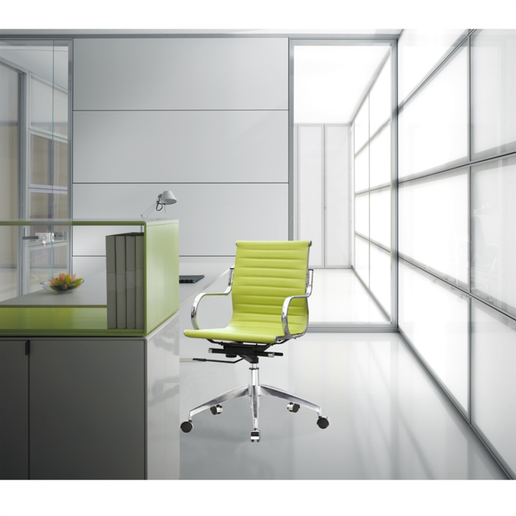 uk availability 293ac e7e4c Fine Mod Imports Twist Office Chair Mid Back in Lime Green