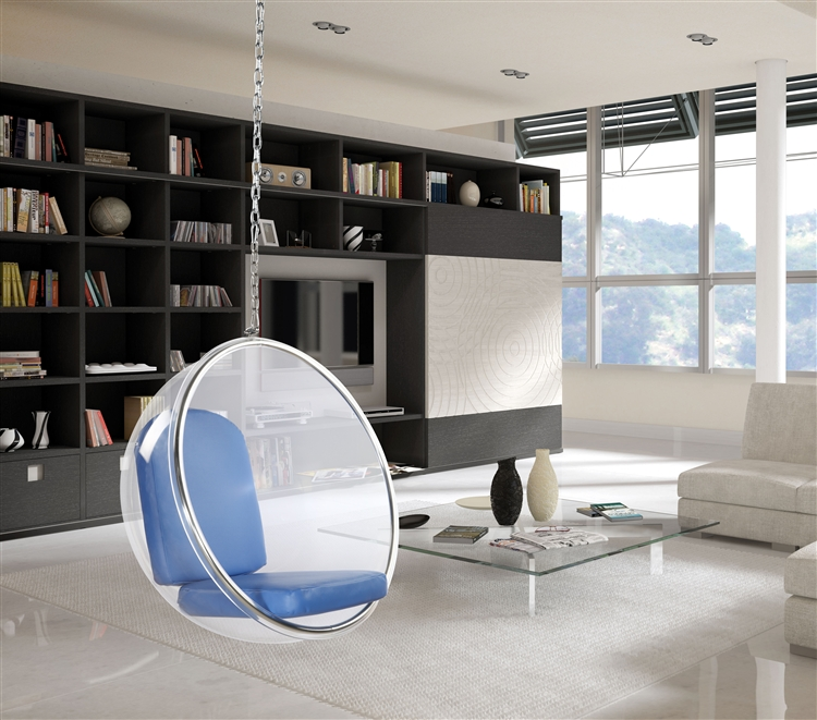 fine mod imports eero aarnio style bubble hanging chair