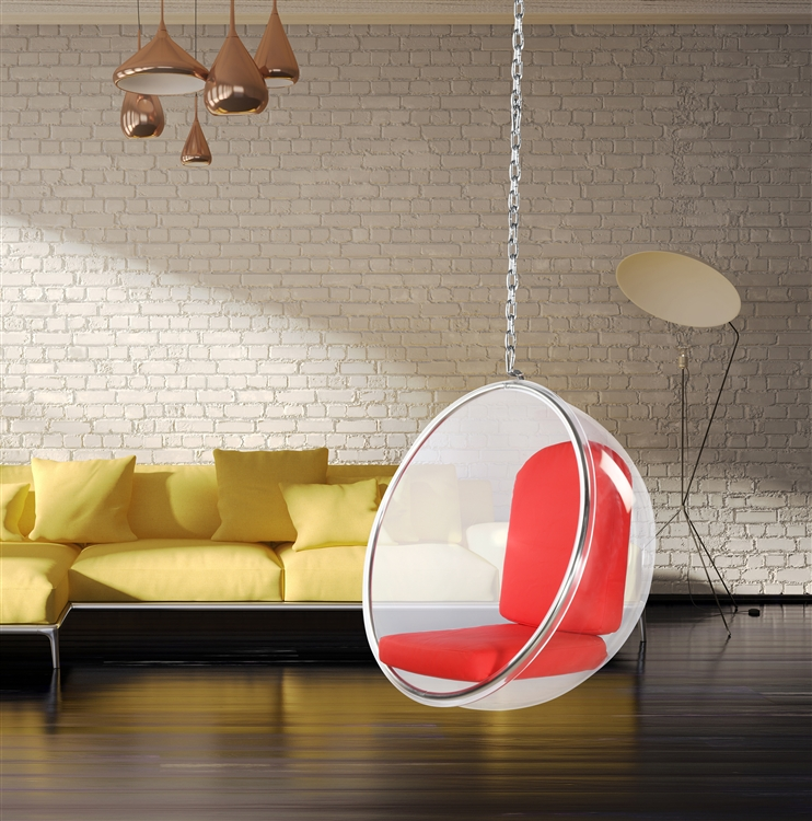 Fine Mod Imports Eero Aarnio Style Bubble Hanging Chair ...