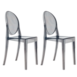 fine mod imports philippe starck style victoria ghost chairs set of 2. Black Bedroom Furniture Sets. Home Design Ideas