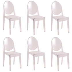 Fine Mod Imports Philippe Starck Style Victoria Ghost Chairs Set Of 6