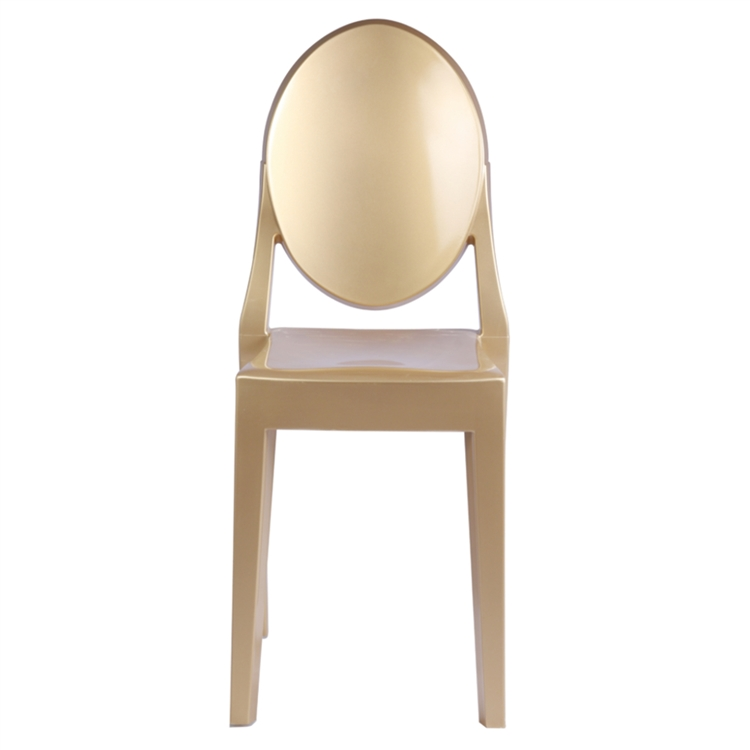 Connu Fine Mod Imports Philippe Starck Style Victoria Ghost Chair, Gold RS78