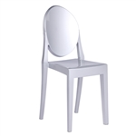 Fine Mod Imports Philippe Starck Style Victoria Ghost Chair, Silver