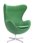 Fine Mod Imports Arne Jacobsen Egg Chair In Green Wool