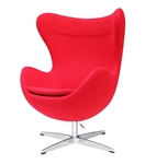Fine Mod Imports Arne Jacobsen Egg Chair In Red Wool