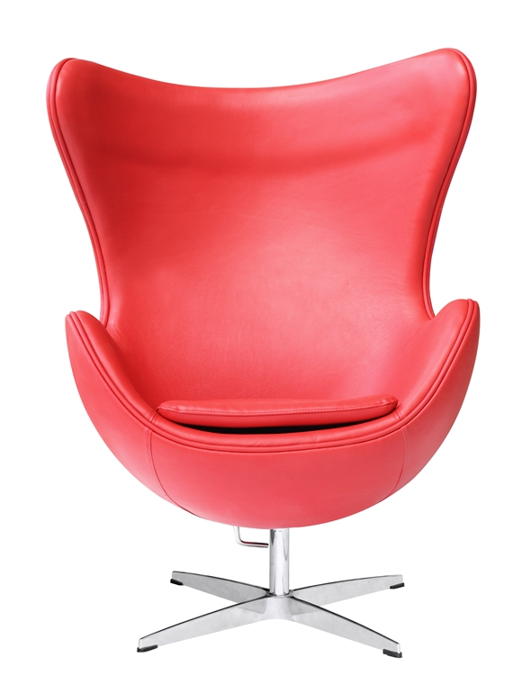 Arne Jacobsen Egg Chair.Fine Mod Imports Arne Jacobsen Egg Chair In Red Leather