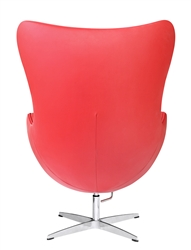 Arne Jacobsen Egg Chair In Red Leather