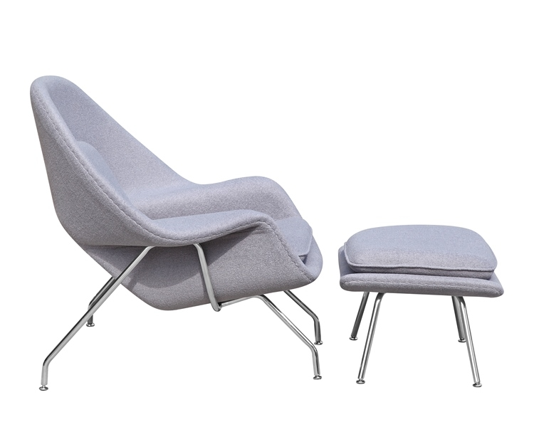 fine mod imports eero saarinen style womb chair and ottoman set