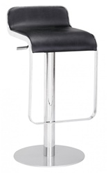 Fine Mod Imports LEM Style Piston Bar Stool in Genuine Leather