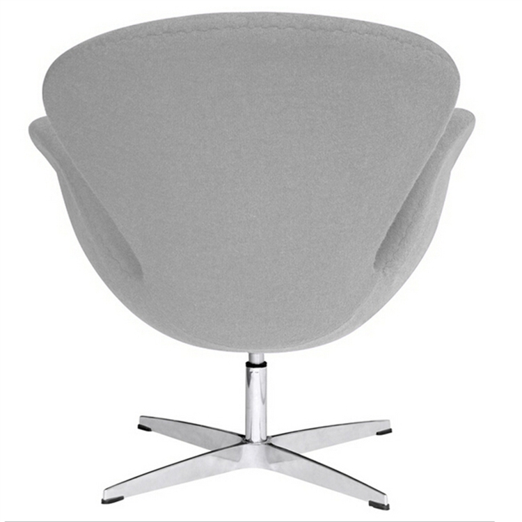 Fine Mod Imports Arne Jacobsen Swan Chair In Light Gray Wool