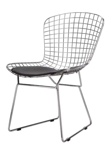 Sensational Fine Mod Imports Bertoia Style Wire Side Chair Theyellowbook Wood Chair Design Ideas Theyellowbookinfo